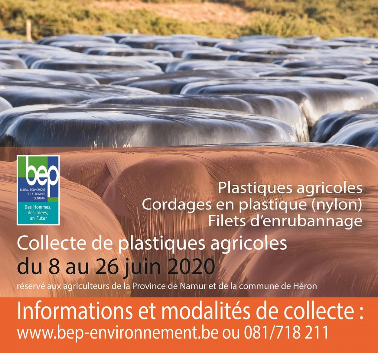 visuel pour la collecte des bâches agricoles 2020