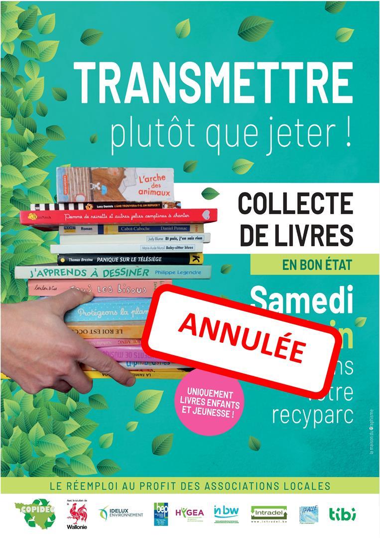 collecte livres annulées