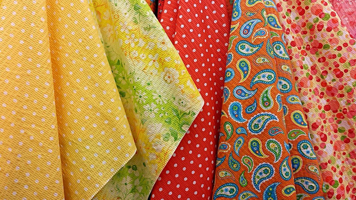 Textiles colorés