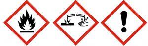 Déchets dangereux sans Bouchon de sécurité et symboles