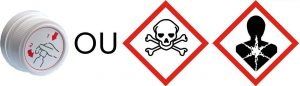 Déchets dangereux Vides-Symboles