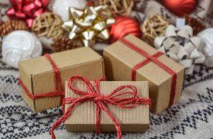 cadeau de Noël emballage fait maison